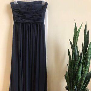 Navy Vera Wang Bridesmaid's Dress